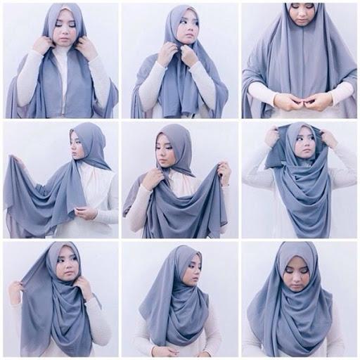 Trend Tutorial Hijab Atau Kerudung Yang Simple Dan Elegan Terbaru 2 Nuridikrimah